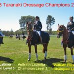 Three Taranaki dressage champions for 2014!